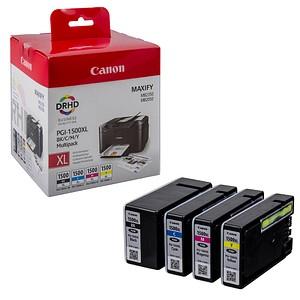 Canon PGI-1500 XL BK/C/M/Y schwarz, cyan, magenta, gelb Tintenpatronen