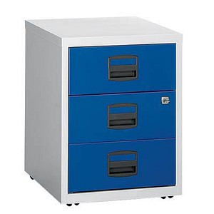 Rollcontainer blau/grau