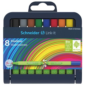 8 Schneider Link-It Fineliner farbsortiert 0,4 mm