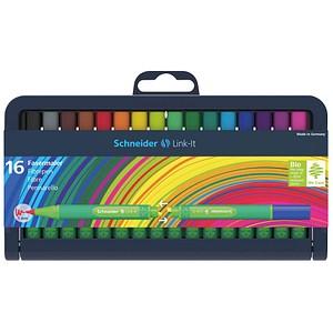 16 Schneider Link-It Filzstifte farbsortiert