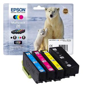 EPSON 26 / T2616 schwarz, cyan, magenta, gelb Tintenpatronen