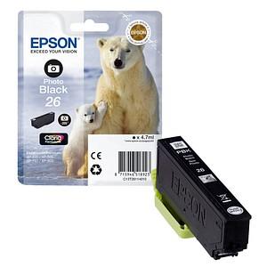 EPSON 26 / T2611 Foto schwarz Tintenpatrone