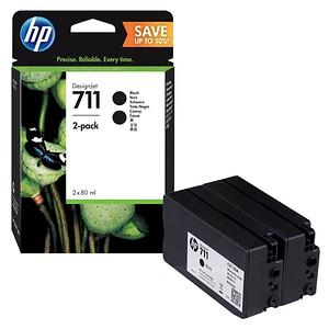 HP 711 schwarz Tintenpatronen 2x 80,0 ml
