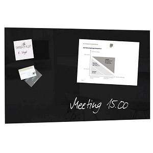sigel Glas-Magnettafel artverum® 78,0 x 48,0 cm schwarz