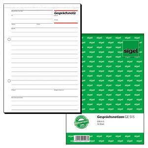 sigel Formularbuch GE515 Gesprächsnotiz