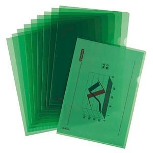 10 herlitz Sichthüllen grün genarbt