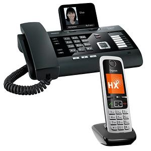 Gigaset DL500A Set Telefon-Set mit Anrufbeantworter