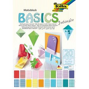 folia Fotokarton BASICS INTENSIV farbsortiert 25 x 35 cm 270 g/qm