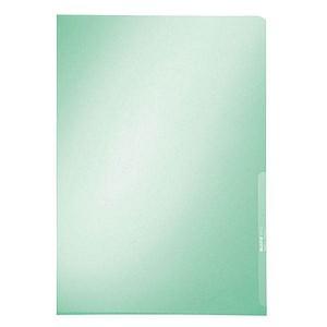 100 LEITZ Sichthüllen grün glatt