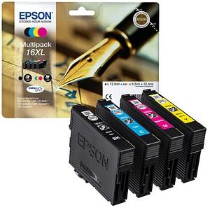 EPSON 16XL / T1636XL schwarz, cyan, magenta, gelb Tintenpatronen