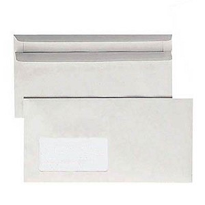 1.000 BONG Recycling-Briefumschläge DIN lang mit Fenster