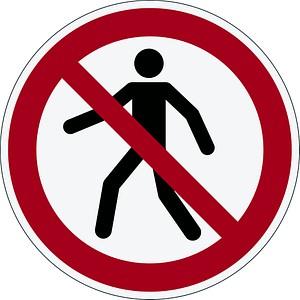 DURABLE Sicherheitskennzeichen Verbotsaufkleber...