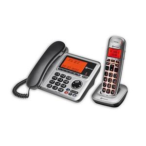 amplicomms by AUDIOLINE BigTel 1480 Telefon-Set mit Anrufbeantworter