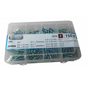 CONNEX Mehrzweckschrauben-Sortiment 150-teilig