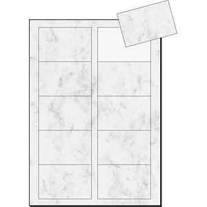 100 sigel Visitenkarten DP742 grau