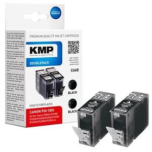 KMP C66D schwarz Tintenpatronen ersetzt Canon PGI-5 BK Twinpack