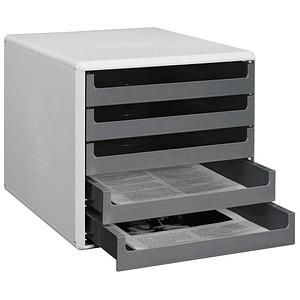 Schubladenbox grau mit 5 Schubladen