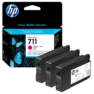 HP 711 magenta Tintenpatronen 3x 29,0 ml