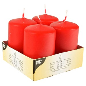 4 PAPSTAR Kerzen rot