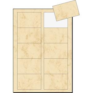 100 sigel Visitenkarten DP744 beige