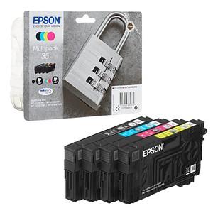 EPSON 35 / T3586 schwarz, cyan, magenta, gelb Tintenpatronen