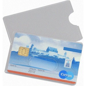10 EICHNER Kreditkartenhüllen transparent Daume...