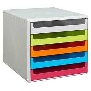Schubladenbox bunt mit 5 Schubladen