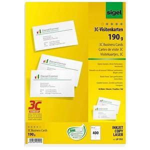 400 sigel Visitenkarten LP791 weiß