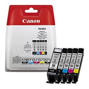 Canon PGI-570 PGBK + CLI-571 BK/C/M/Y 2x schwarz, cyan, magenta, gelb Tintenpatronen