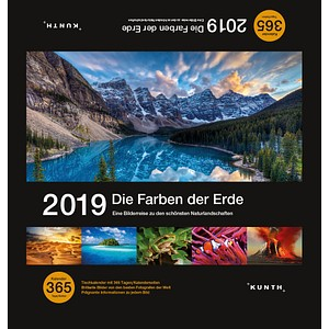 Kunth Tischquerkalender Farben der Erde 2019