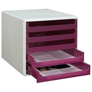 Schubladenbox lila mit 5 Schubladen