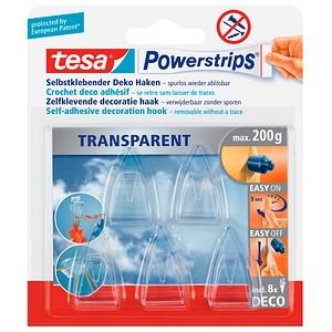 tesa Klebehaken Powerstrips TRANSPARENT