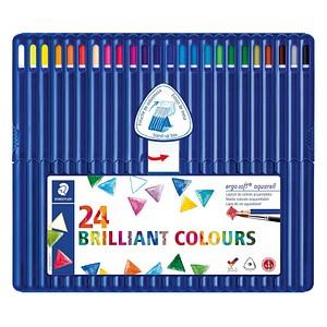 24 STAEDTLER ergosoft® aquarell 156 Aquarellstifte farbsortiert