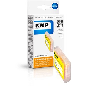 KMP B12 gelb Tintenpatrone ersetzt brother LC-1000Y