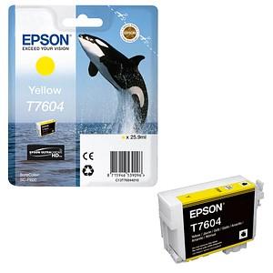 EPSON T7604 gelb Tintenpatrone