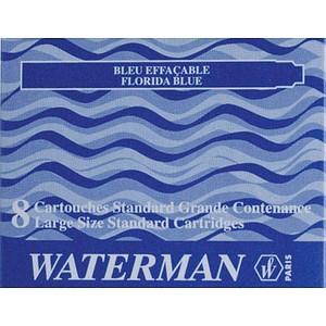 8 WATERMAN Tintenpatronen für Füller blau