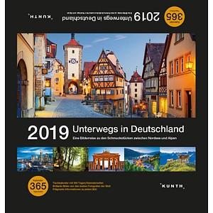 Kunth Tischquerkalender Unterwegs in Deutschlan...