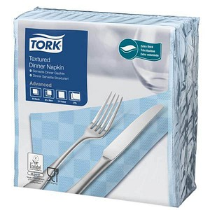 50 TORK Servietten Textured blau