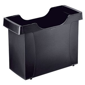 LEITZ Hauml;ngeregistraturbox Plus Uni-Box schwarz ohne Deckel
