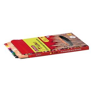 12 herlitz Trilino Buntstifte farbsortiert