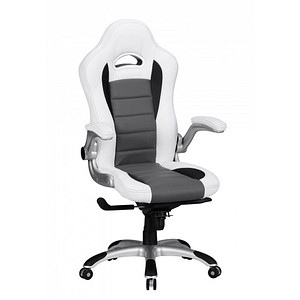 AMSTYLE Racing Chefsessel weiß