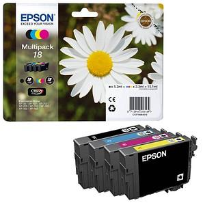 EPSON 18 / T1806 schwarz, cyan, magenta, gelb Tintenpatronen