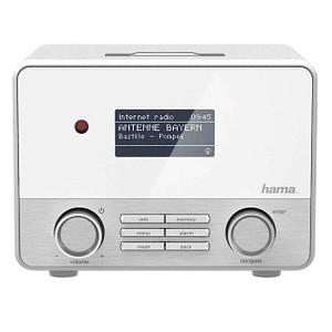 hama IR111 Internet-Radio weiß; silber