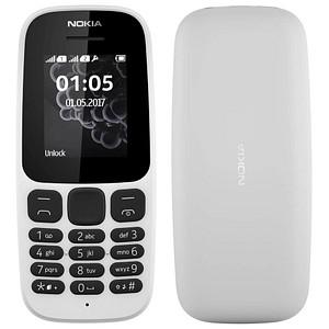 NOKIA 105 Dual-Sim-Handy weiß