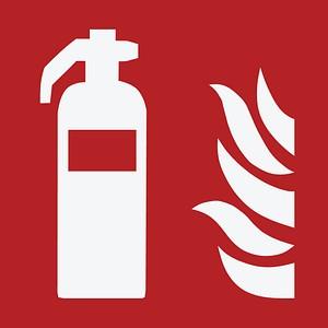 Brandschutzaufkleber Feuerlöschgerät