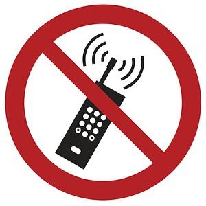 Verbotsaufkleber Handy benutzen verboten