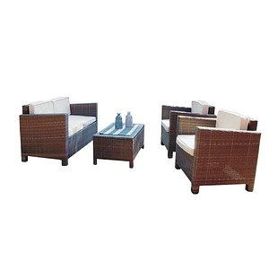 Garden Pleasure Rom Loungegruppe braun