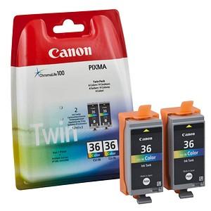 Canon CLI-36 Twin-Pack color Tintenpatronen