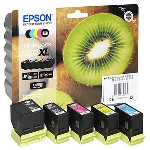 EPSON 202XL/T02G74 schwarz, photo schwarz, cyan, magenta, gelb Tintenpatrone