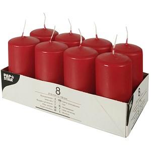 8 PAPSTAR Kerzen rot